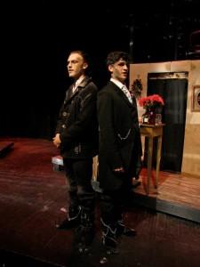 Cross, right, as Judge Turpin in Stage 32's 2015 Fall Musical, Sweeney Todd, Directed by Erin Galligan-Baldwin (PC to Jason Galligan-Baldwin)