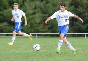 Cross playing defense in Varsity Boys soccer (PC Mark Bushnell)