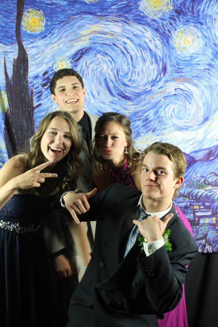 The starry night photo booth.