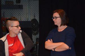 Guest artist Wendy Stevens with Erin Galligan-Baldwin
