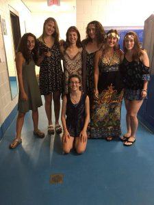 Varsity Girls Team during the pep rally